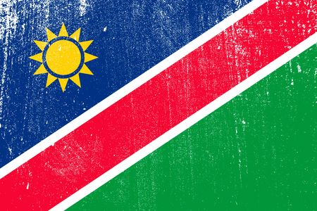 grunge styled flag of Namibia . Template for your design . Template for your design