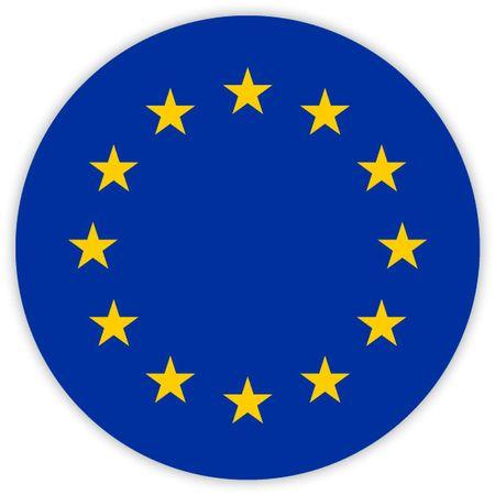 Simple round flag of European Union . Template for your design . Template for your design