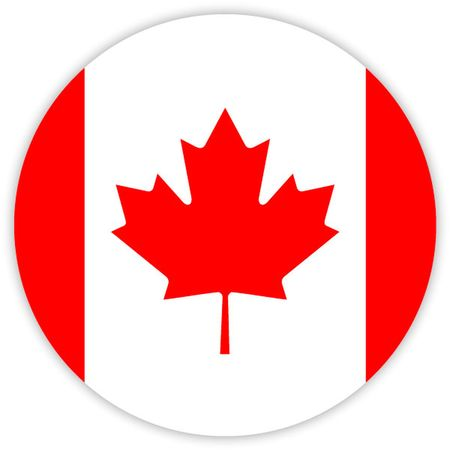 Simple round flag of Canada . Template for your design . Template for your design