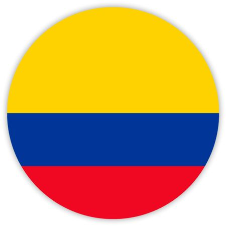 Simple round flag of Colombia . Template for your design . Template for your design