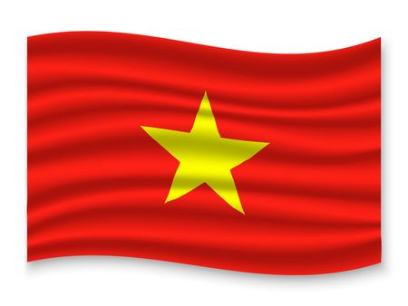 3D Waving Flag of Vietnam . Template for your design