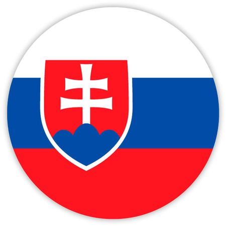 Simple round flag of Slovakia . Template for your design . Template for your design