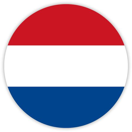 Simple round flag of Netherlands . Template for your design . Template for your design  イラスト・ベクター素材