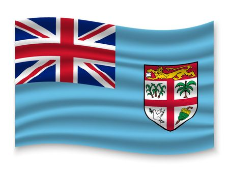 3D Waving Flag of Fiji . Template for your design Illustration