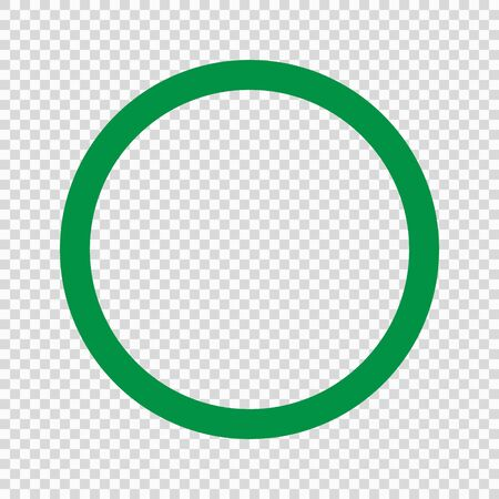 Green circle icon on transparent background . Template for your design