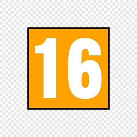 Video game content rating symbol. Suitable for ages 16 and over