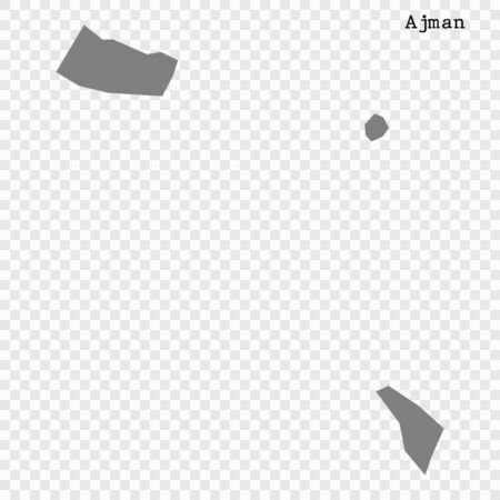 High quality map of Ajman is a emirate of United Arab Emirates