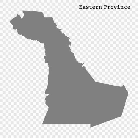 High quality map of Eastern Province is a region of Saudi Arabia