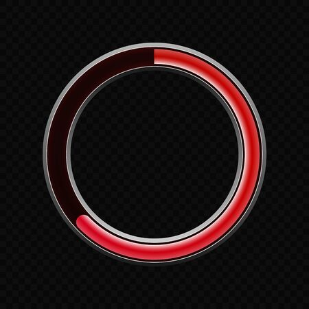 Round progress loading bar panel template . Template for your design