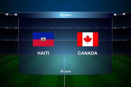 Haiti vs Canada football scoreboard broadcast graphic soccer template