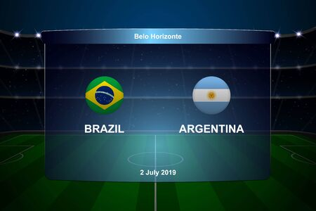 Brazil vs Argentina football scoreboard broadcast graphic soccer template