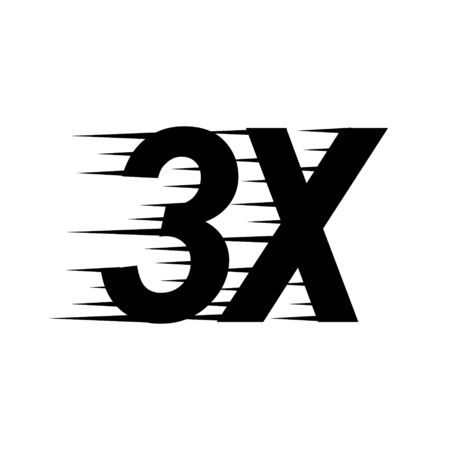 3x sign icon. faster symbol . Template for your design