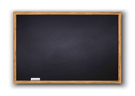 Blackboard with wooden frame, dirty chalkboard . Template for your design Иллюстрация