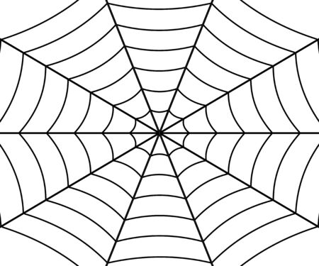 Spinnennetzillustration, Vektorspinnennetz. Vorlage für Ihr Design
