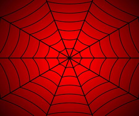 Spider web illustration, Vector cobweb . Template for your design