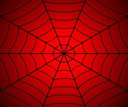 Spinnenwebillustratie, Vectorspinneweb. Sjabloon voor uw ontwerp