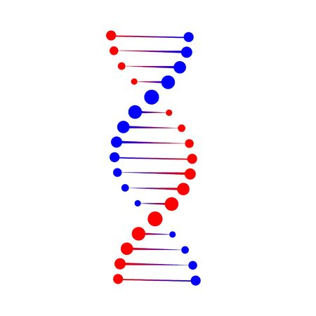 DNA structure icon. Vector molecule . Template for your design