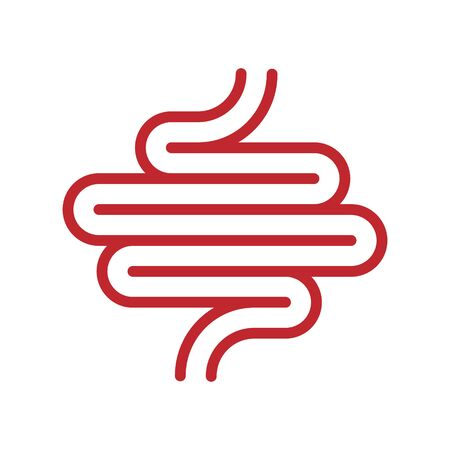 Human digestion tract icon isolated . Template for your design