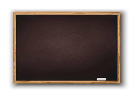 Tafel mit Holzrahmen, schmutzige Tafel. Vorlage für Ihr Design Vektorgrafik