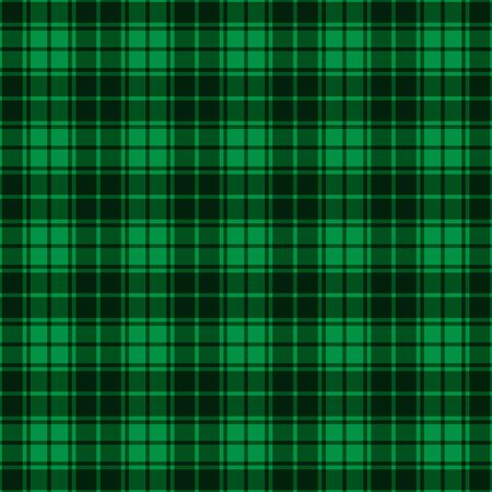 Green Gingham seamless plaid pattern . Template for your design