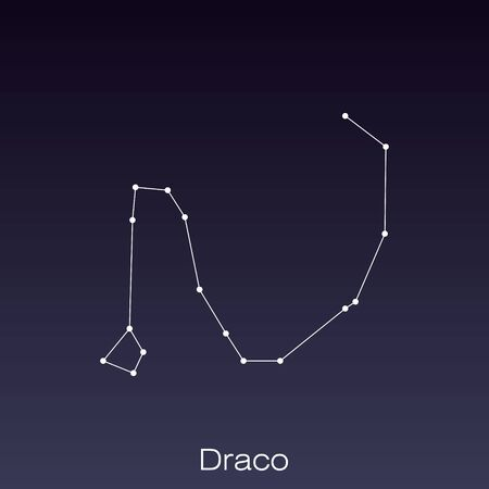 Draco constellation as it can be seen by the naked eye.