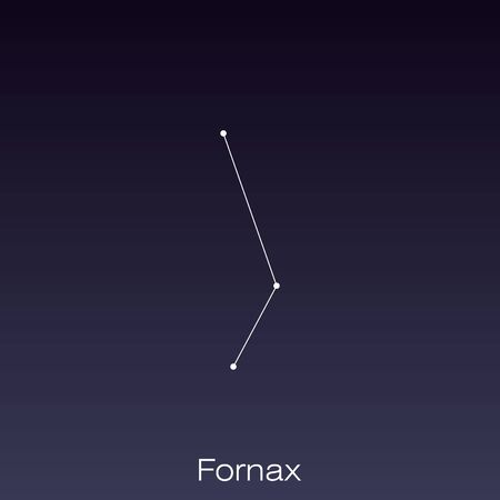 Fornax constellation as it can be seen by the naked eye.