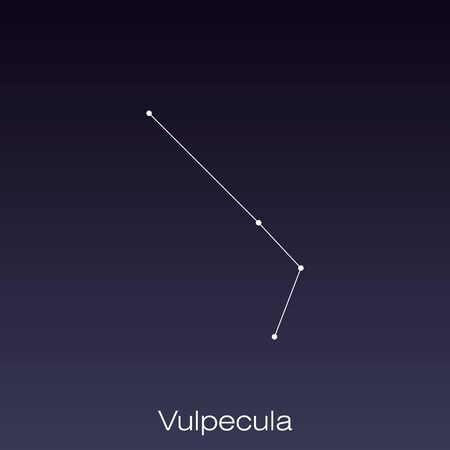 Vulpecula constellation as it can be seen by the naked eye. Ilustração