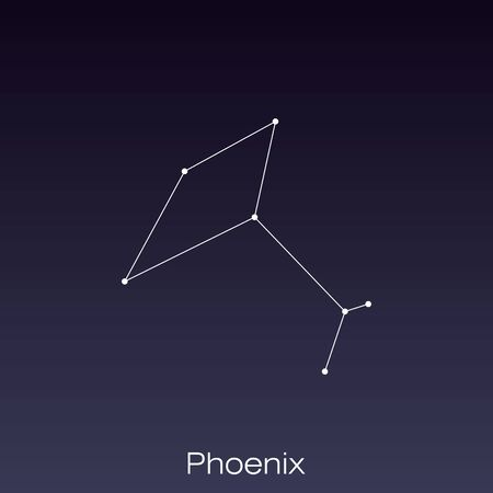 Phoenix constellation as it can be seen by the naked eye.