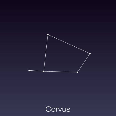 Corvus constellation as it can be seen by the naked eye.