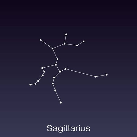 Sagittarius constellation as it can be seen by the naked eye. 일러스트