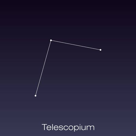 Telescopium constellation as it can be seen by the naked eye.