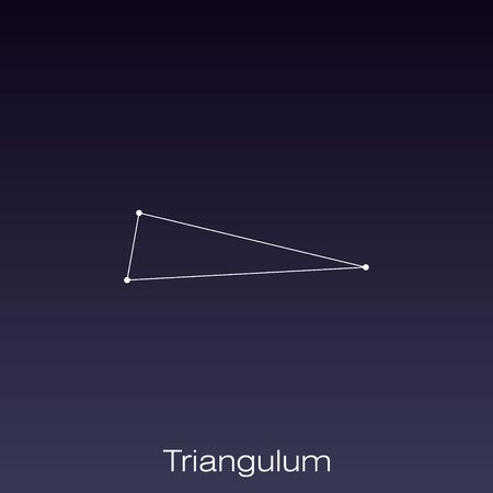 Triangulum constellation as it can be seen by the naked eye.