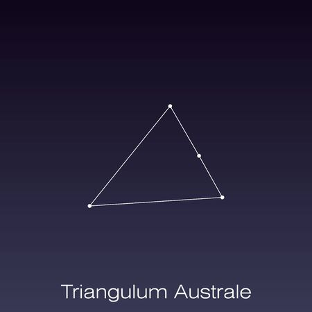 Triangulum Australe constellation as it can be seen by the naked eye. 일러스트