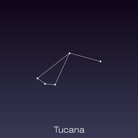Tucana constellation as it can be seen by the naked eye.