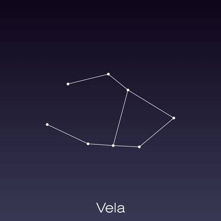 Vela constellation as it can be seen by the naked eye. Ilustração