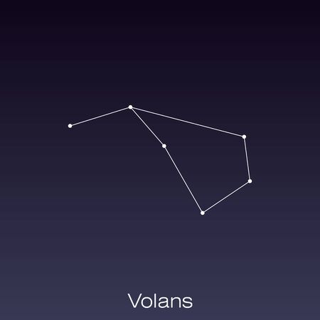 Volans constellation as it can be seen by the naked eye.