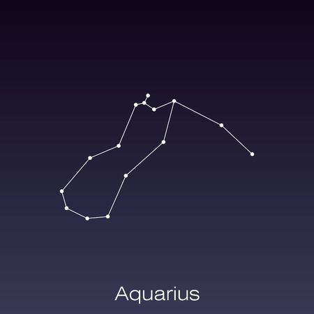 Aquarius constellation as it can be seen by the naked eye.