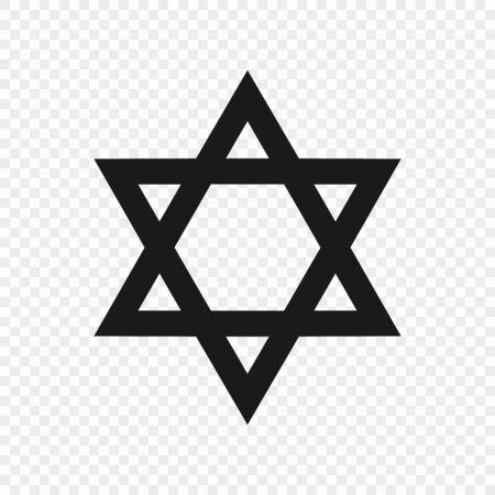 Star of David - symbol of judaism. Vector illustration Illustration