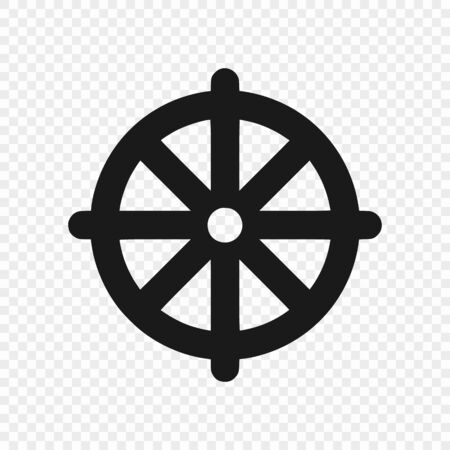 Dharmachakra  Wheel of Dharma - a symbol of Buddhism. Vector illustration . Template for your design 向量圖像