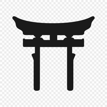Japan Torii Gate - symbol of shinto. Vector illustration