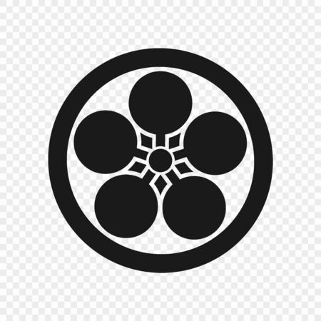 Symbol of Tenrikyo isolated. Vector illustration . Template for your design