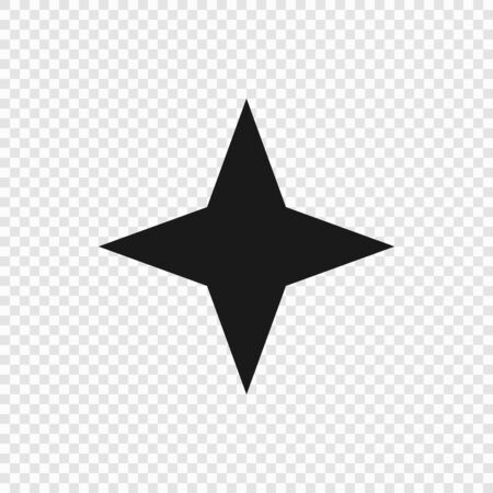 4 point classic star. Vector illustration . Template for your design