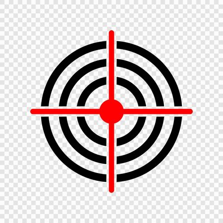 Gun target icon on transparent background . Template for your design