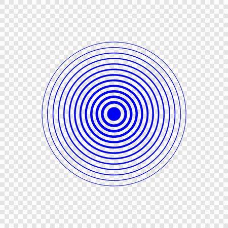 Icône d'onde sonore de recherche de sonar. Modèle pour votre conception