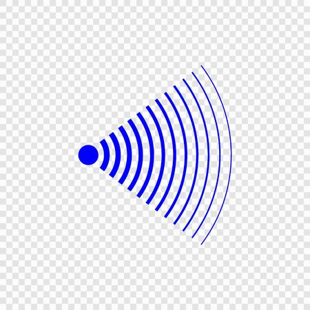 Icône d'onde sonore de recherche de sonar. Modèle pour votre conception Vecteurs