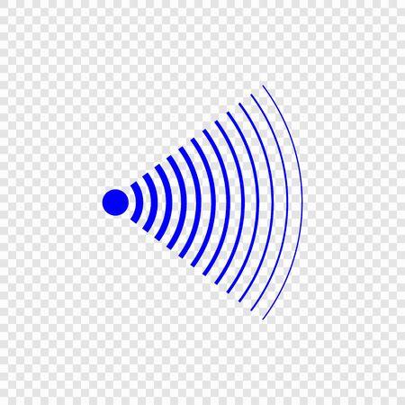Icona dell'onda sonora di ricerca sonar. Modello per il tuo design Vettoriali