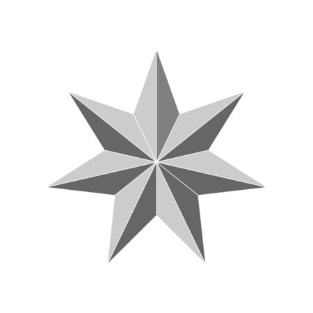 3d 7 point beveled star. Vector illustration . Template for your design 일러스트