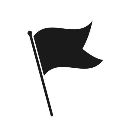 Simple flag icon isolated on white background 일러스트