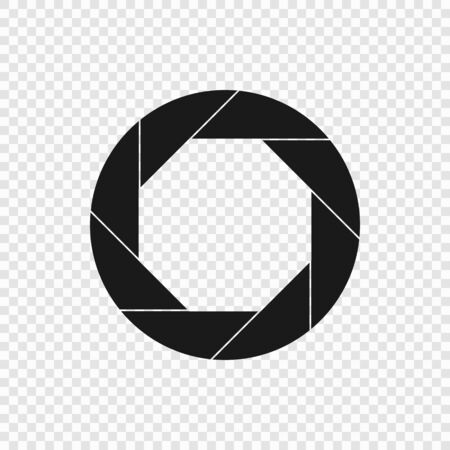 Shutter camera Icon isolated on white background