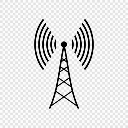 Communication satellite antenna simple vector icon . Template for your design